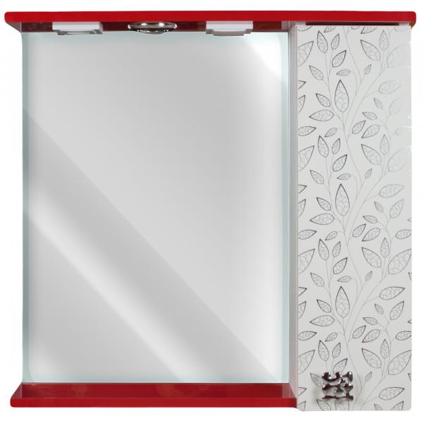 Oglinda pentru baie 60 rosu + frunze alb