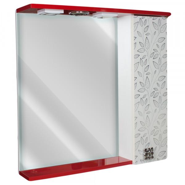 Oglinda pentru baie 70 rosu + frunze alb