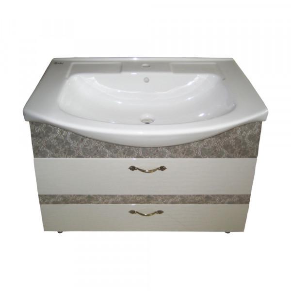 Мебель для ванной 3D-ИЗЕО 85 2Ш анти.619