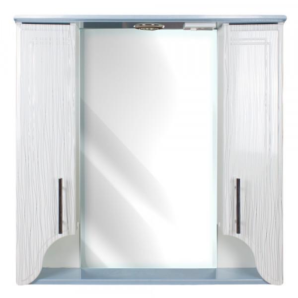 Oglinda pentru baie 75 ЦВ straip albastriu