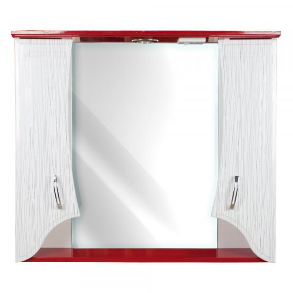 Oglinda pentru baie 75 ЦВ straip rosu