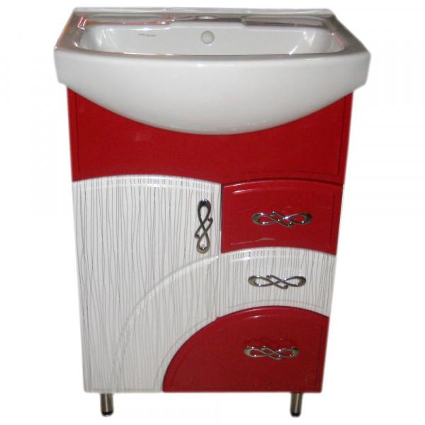 Mobila pentru baie Color IZEO 55 N1 pelicula rosu