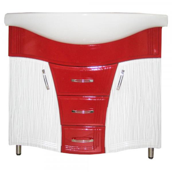 Mobila pentru baie Color IZEO 85 N2 pelicula rosu