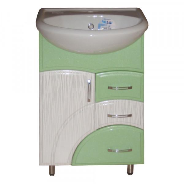 Мебель для ванной ЦВ ИЗЕО 65 N1 пленка салатовый